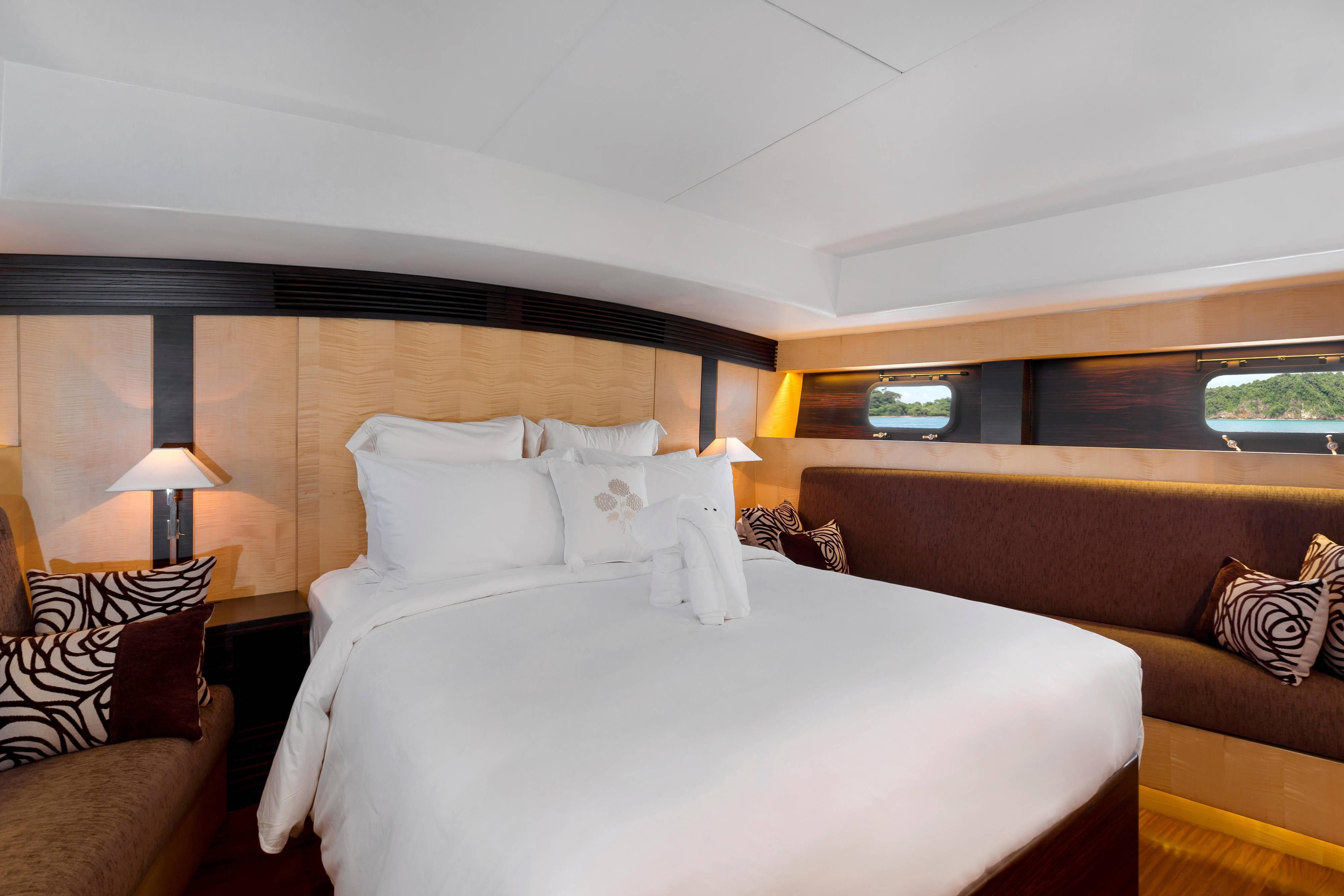 Born Free Yacht Master Bedroom