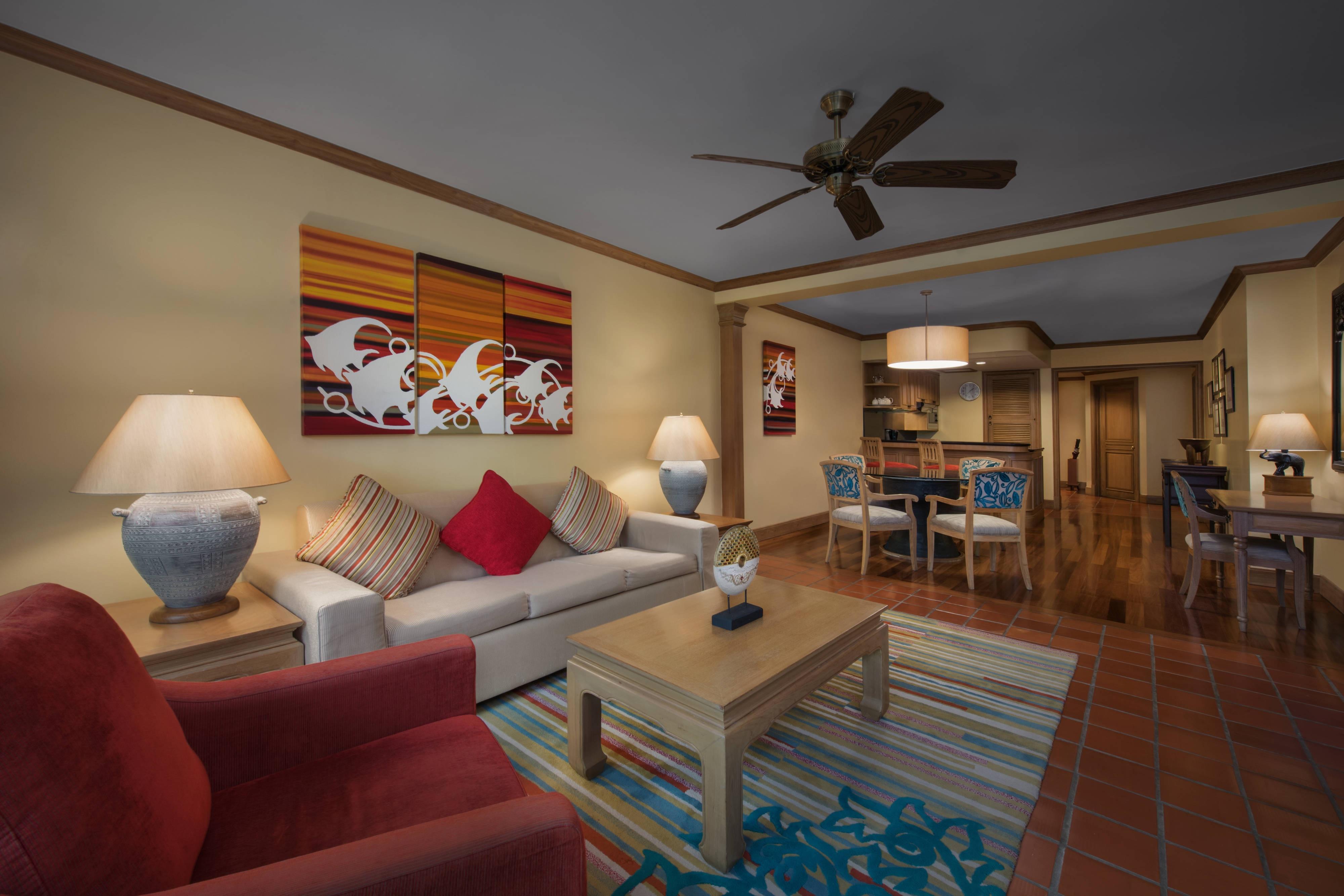 Apartment mit zwei Schlafzimmern– Wohnbereich