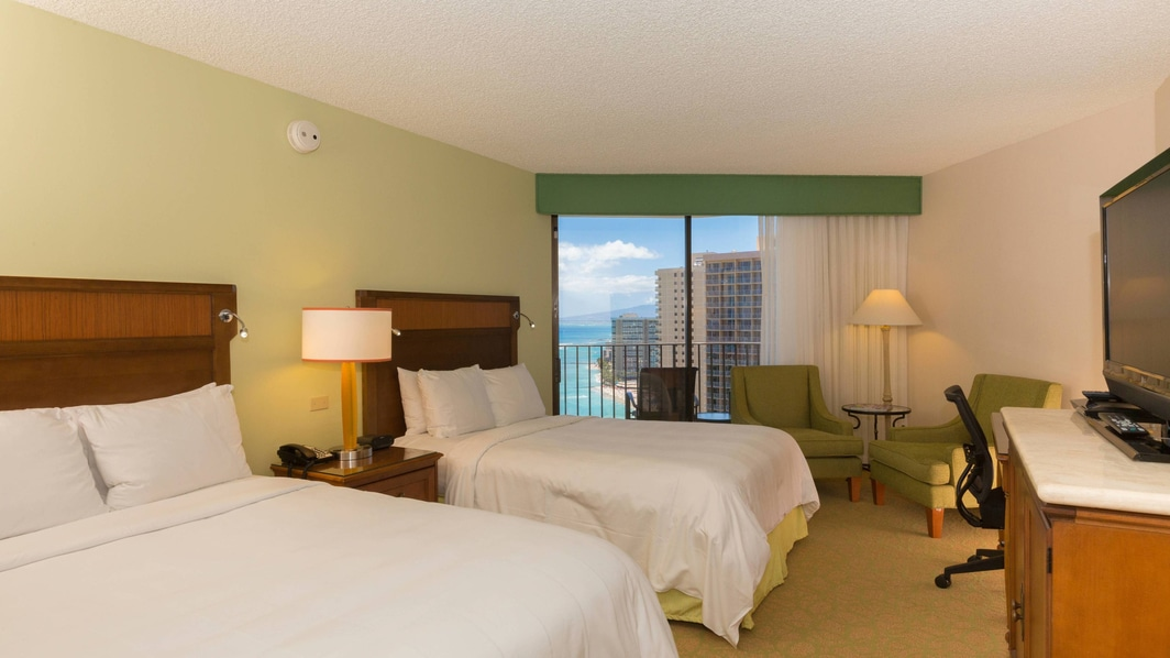 Waikiki Hotel Room with Ocean Views