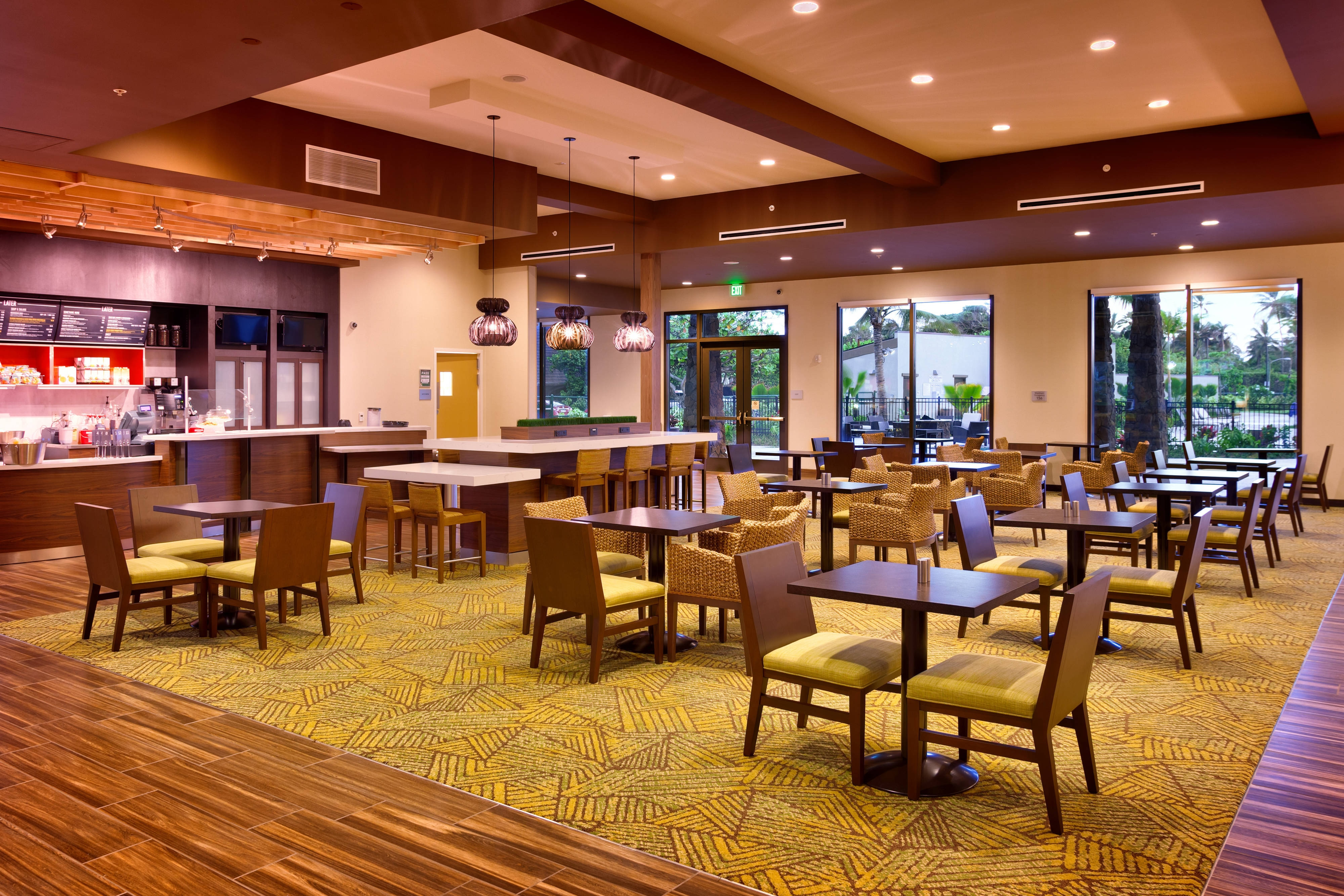 Oahu American restaurant seating area