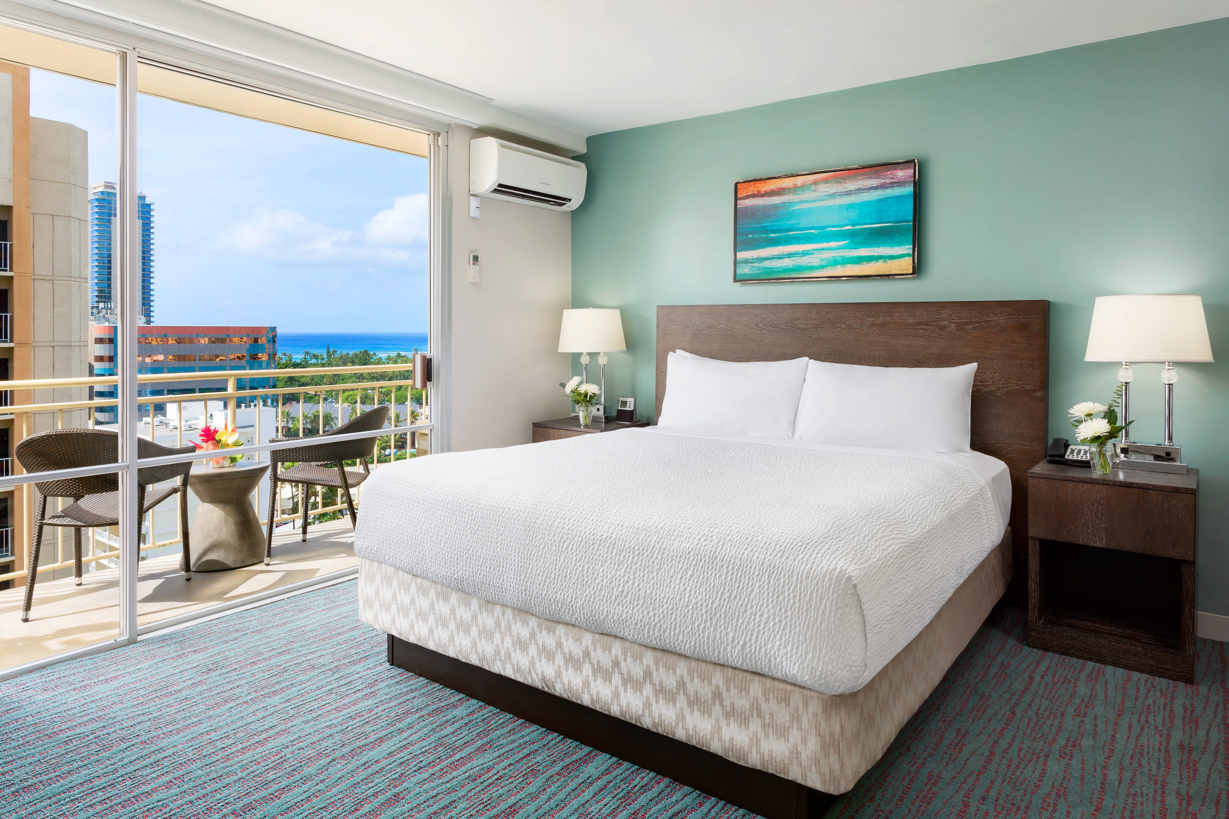 King Guest Room - Deluxe Partial Ocean View