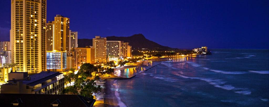 Vistas de las playa de Waikiki