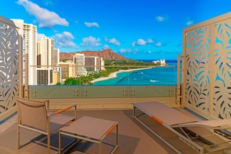 Penthouse Ocean 2108 - Diamond Head facing Lanai