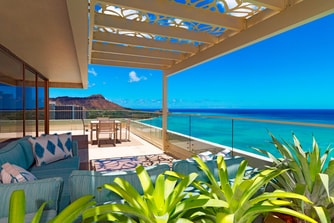 Penthouse Suite110 - Diamond Head Facing Lanai