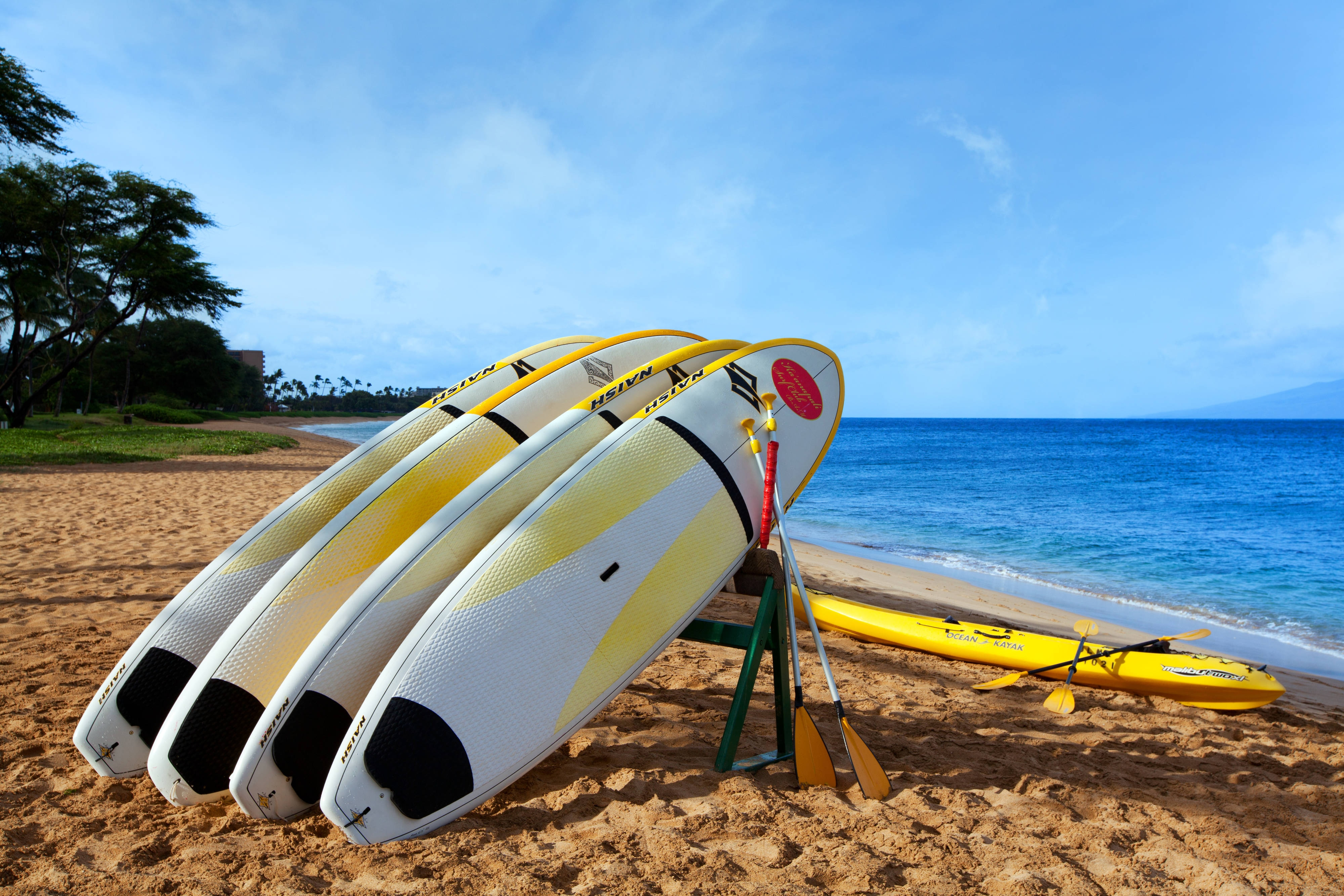Kaanapali Beach with Stand-up paddle rentals