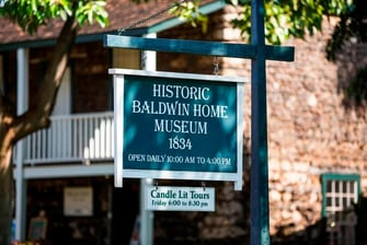 Historic Baldwin Home Museum Sign