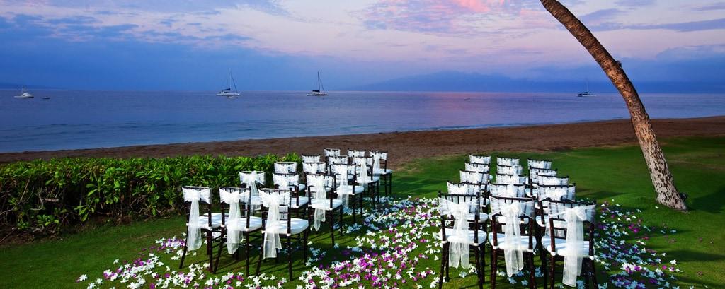 Ocean Front Lawn Wedding Ceremony