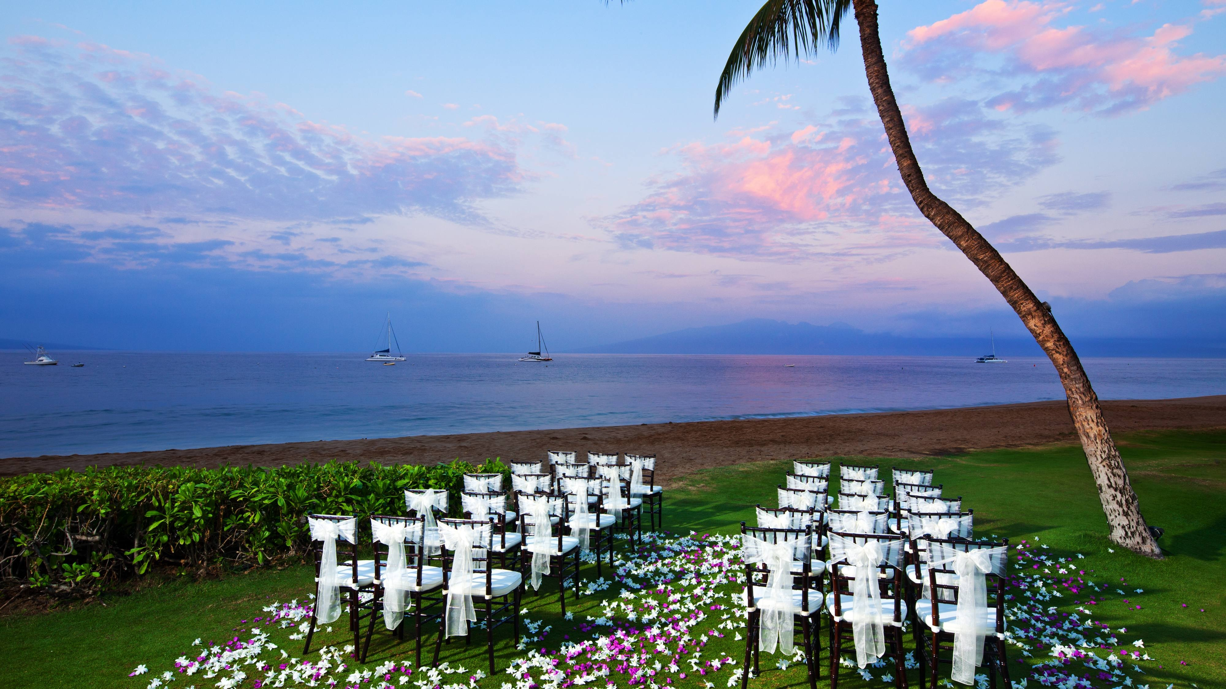 Ocean Front Lawn Wedding Ceremony
