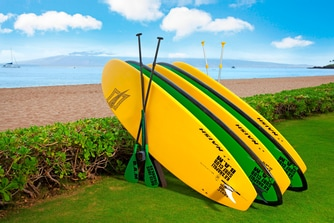 Stand-up Paddle Boards on Kaanapali Beach