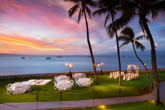 Beach Lawn Wedding