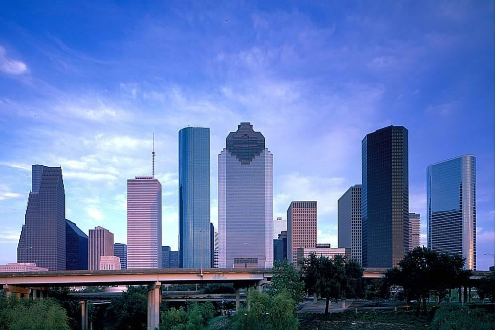 Vista panorámica al centro de Houston