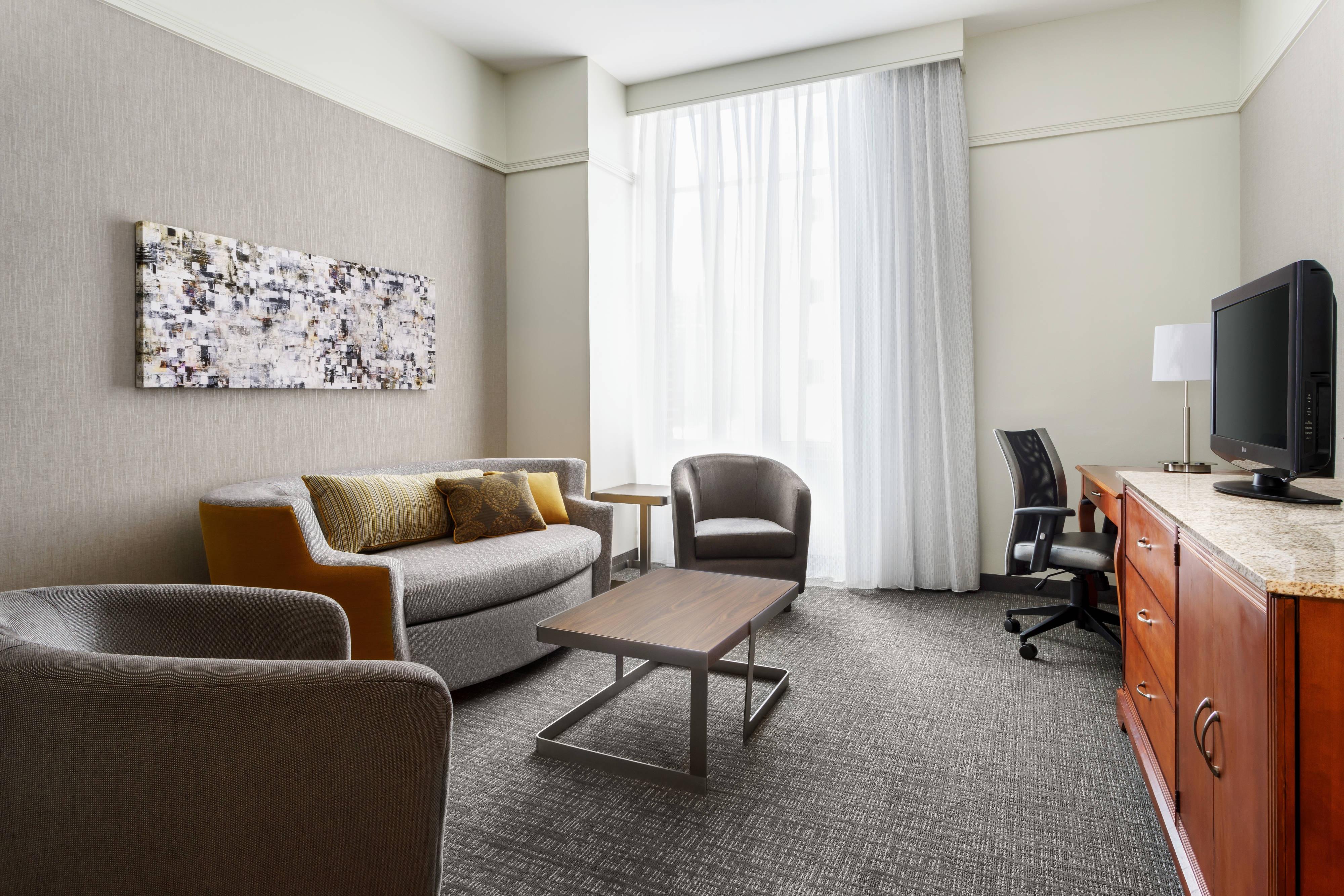 Suite del hotel en el centro de Houston