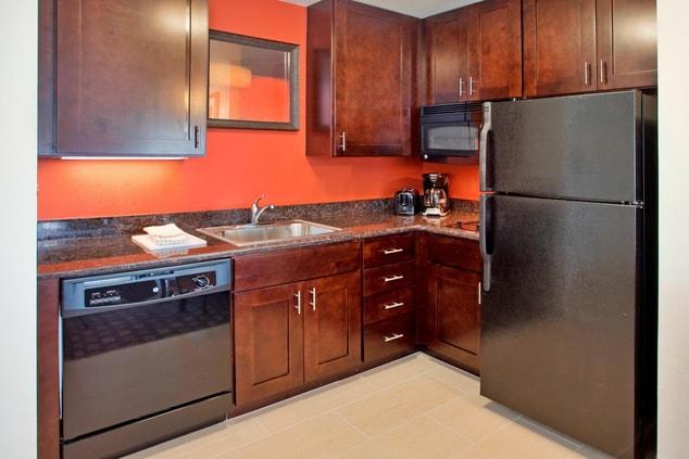 West Houston Hotel Suite Kitchen