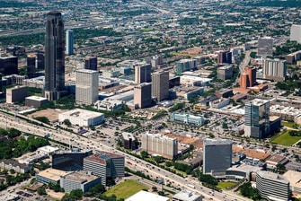 Aerial View Houston Galleria area