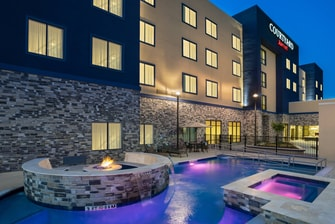 Pool Spa and Fire Pit