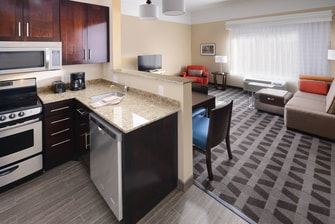 Houston Hotels with Kitchen and Living Area