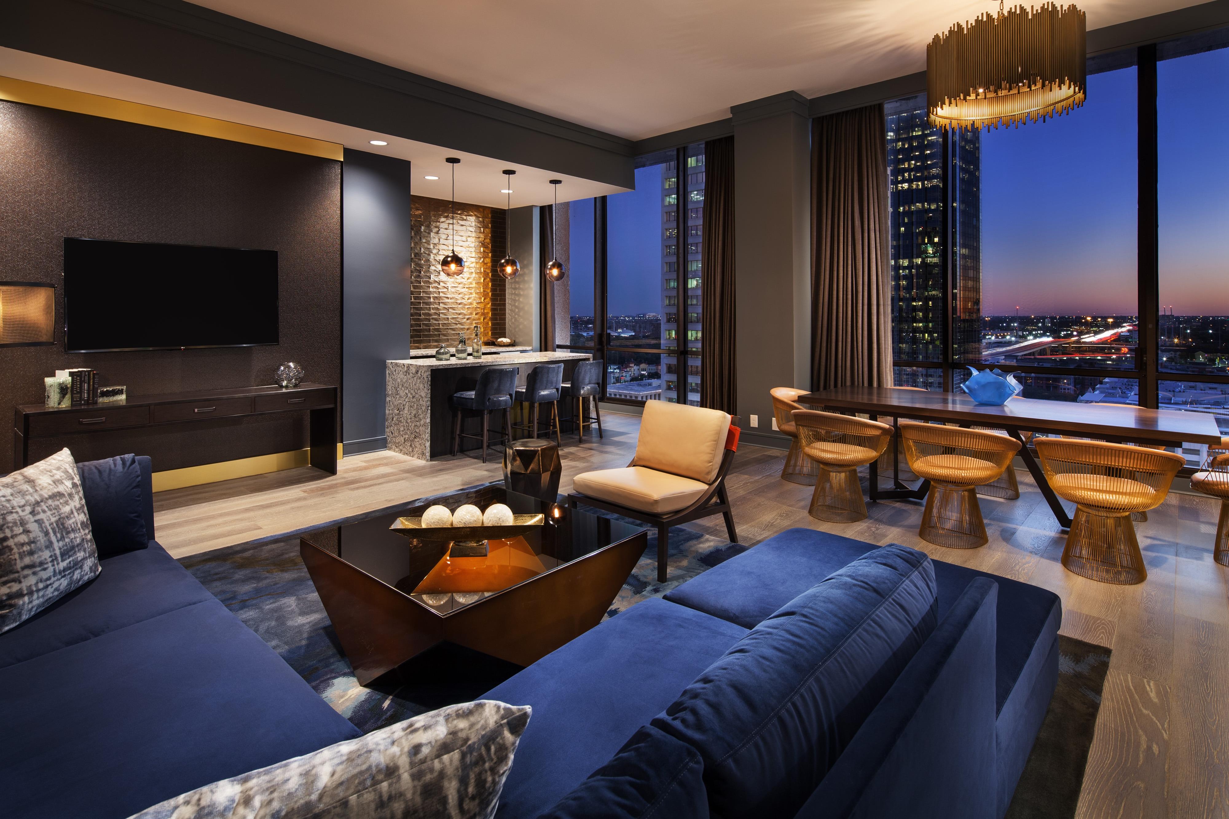 Skyline Luxus Suite– Wohnzimmer