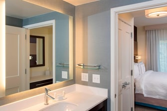 Suite Bathroom Vanity with Lit Mirror