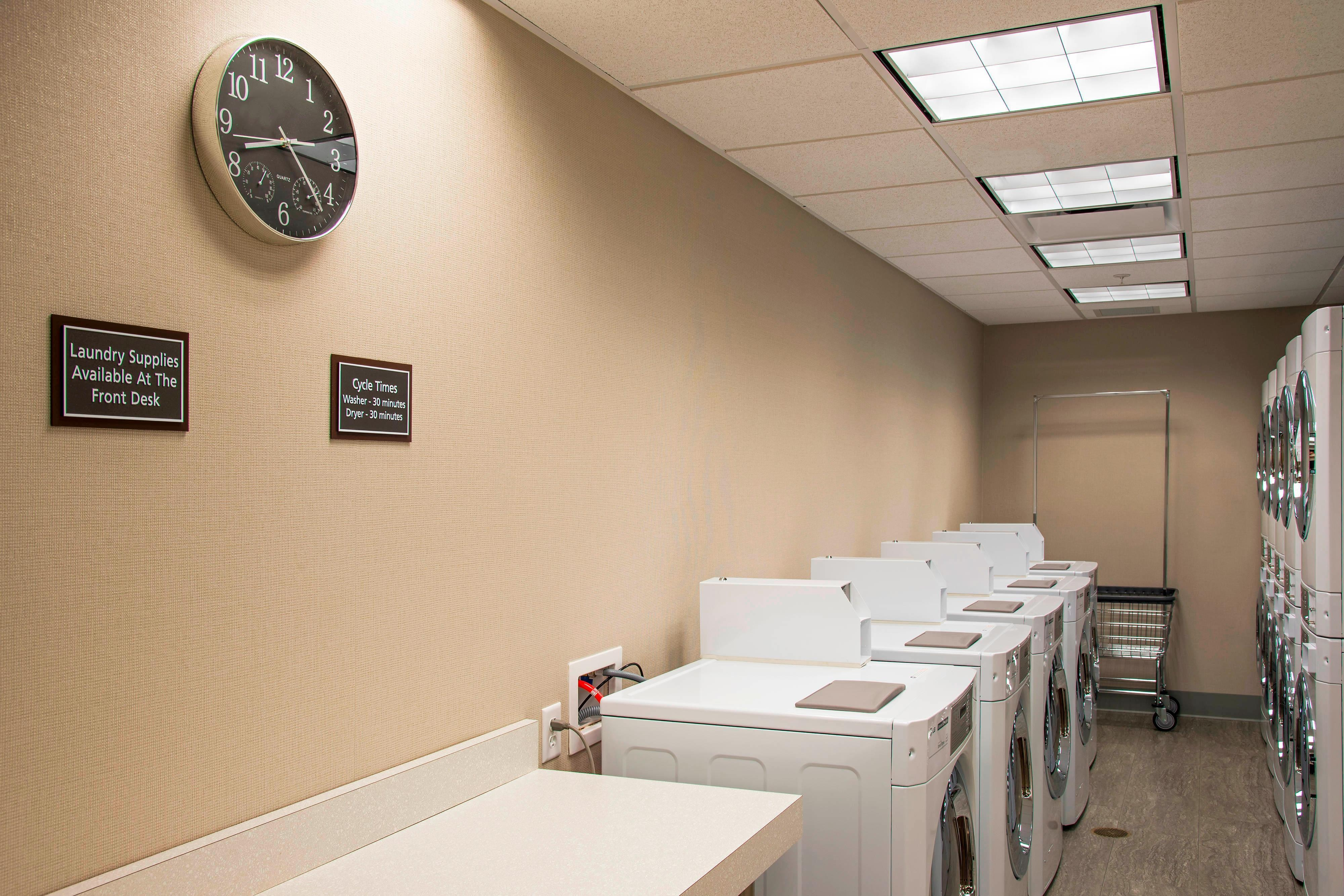 Guest Laundry with Washers and Dryers
