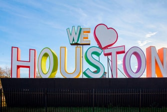 "Letrero: ""Amamos Houston"""