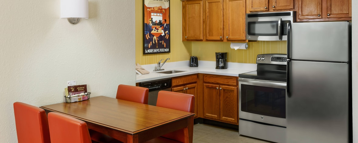 Houston Two-Bedroom Suite Kitchen