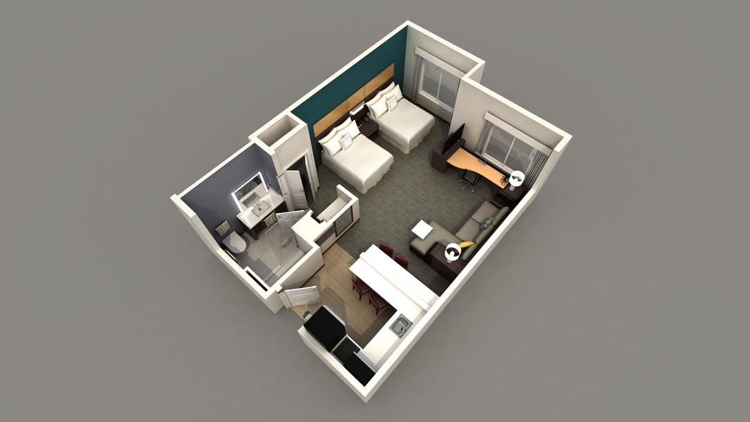 studio double queen hotel room cypress tx