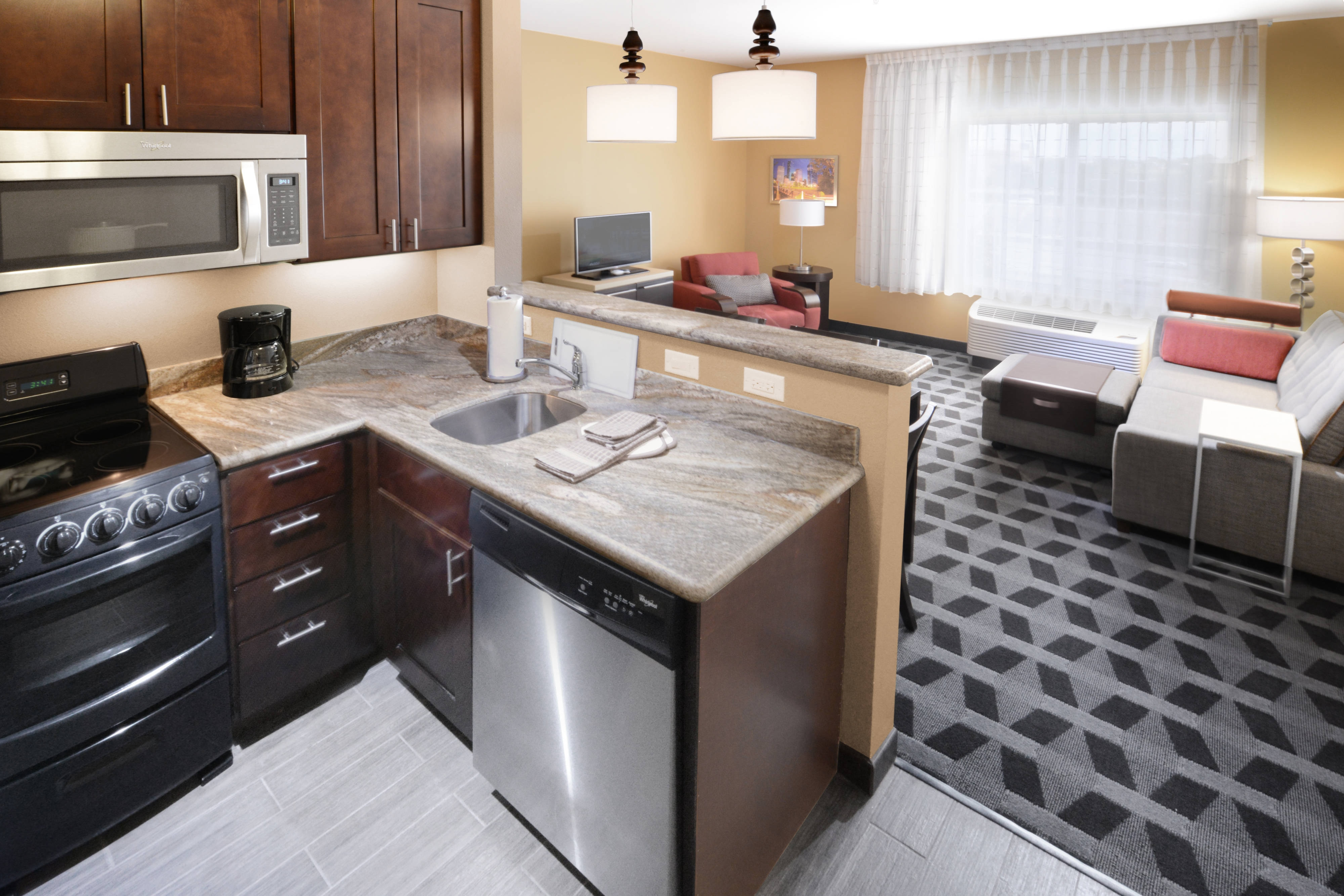 Two-Bedroom Suite – Kitchen & Living Area