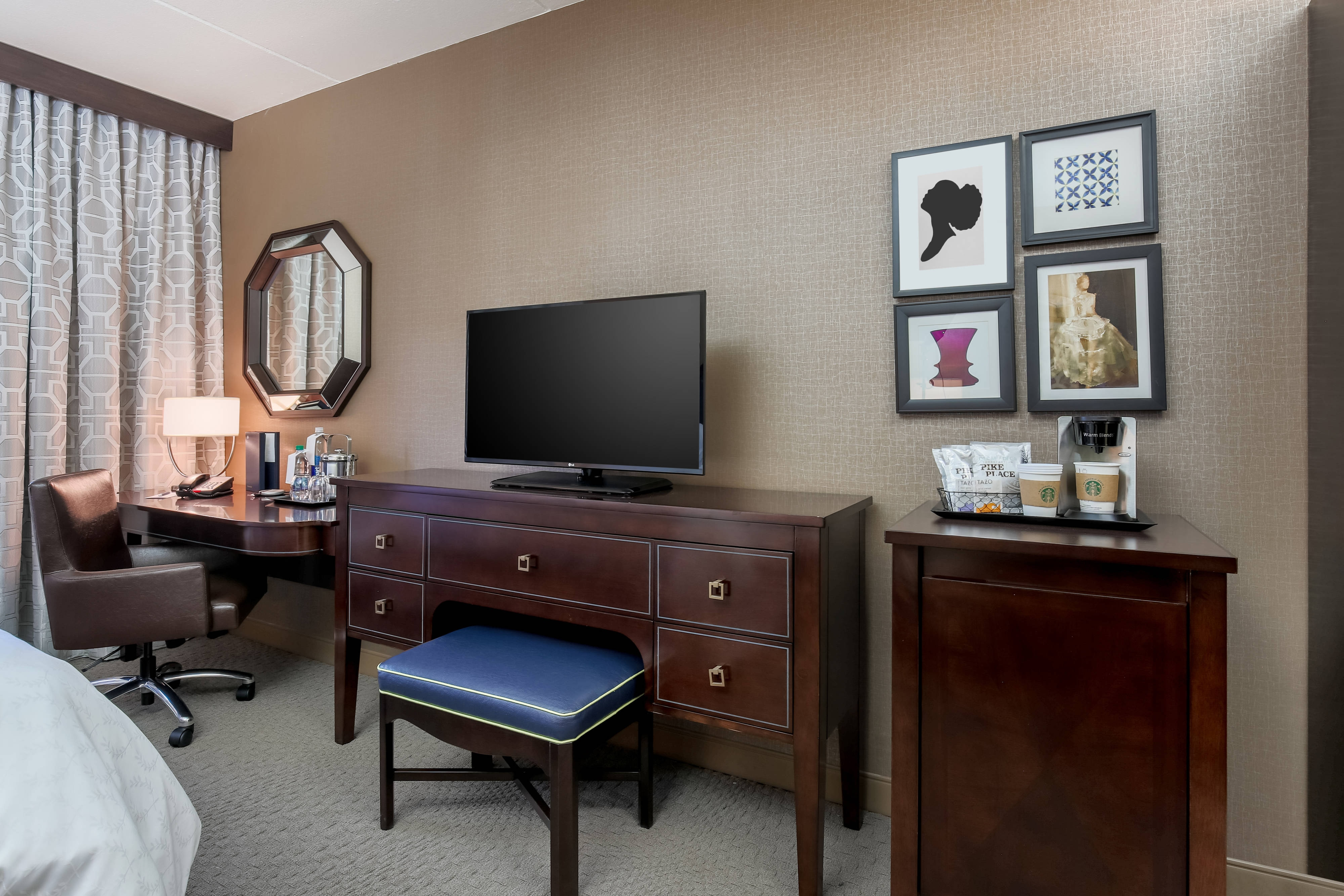 Guest Room Single King Television Desk