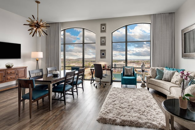 Two-Bedroom Executive Suite - Living Room