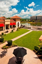 Outdoor courtyard at The Westin Huntsville