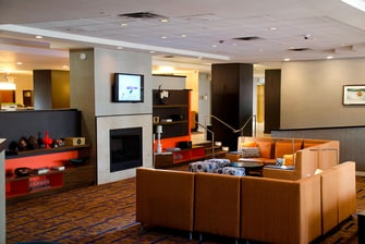 Lobby Fireplace Seating Area