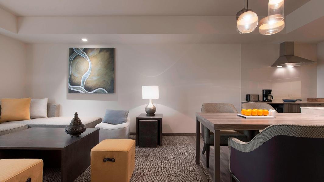 Sala de estar del apartamento Deluxe
