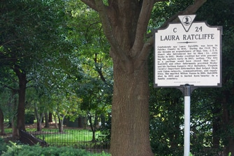 Laura Ratcliffe Civil War Marker
