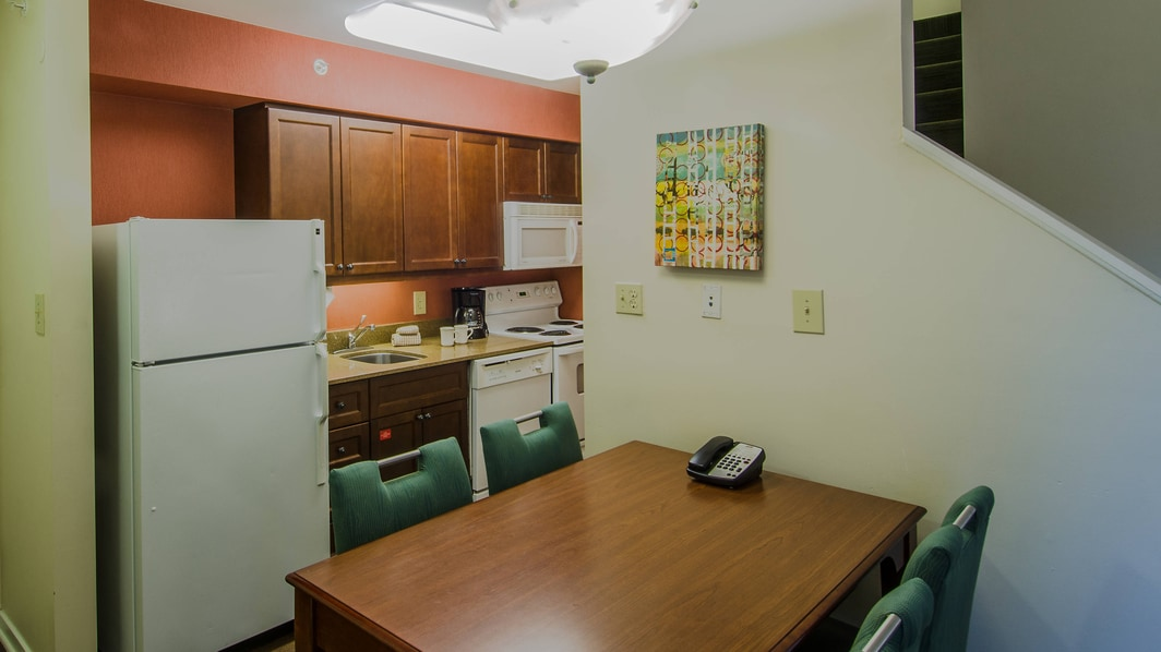 Herndon Residence Inn Kitchen Area