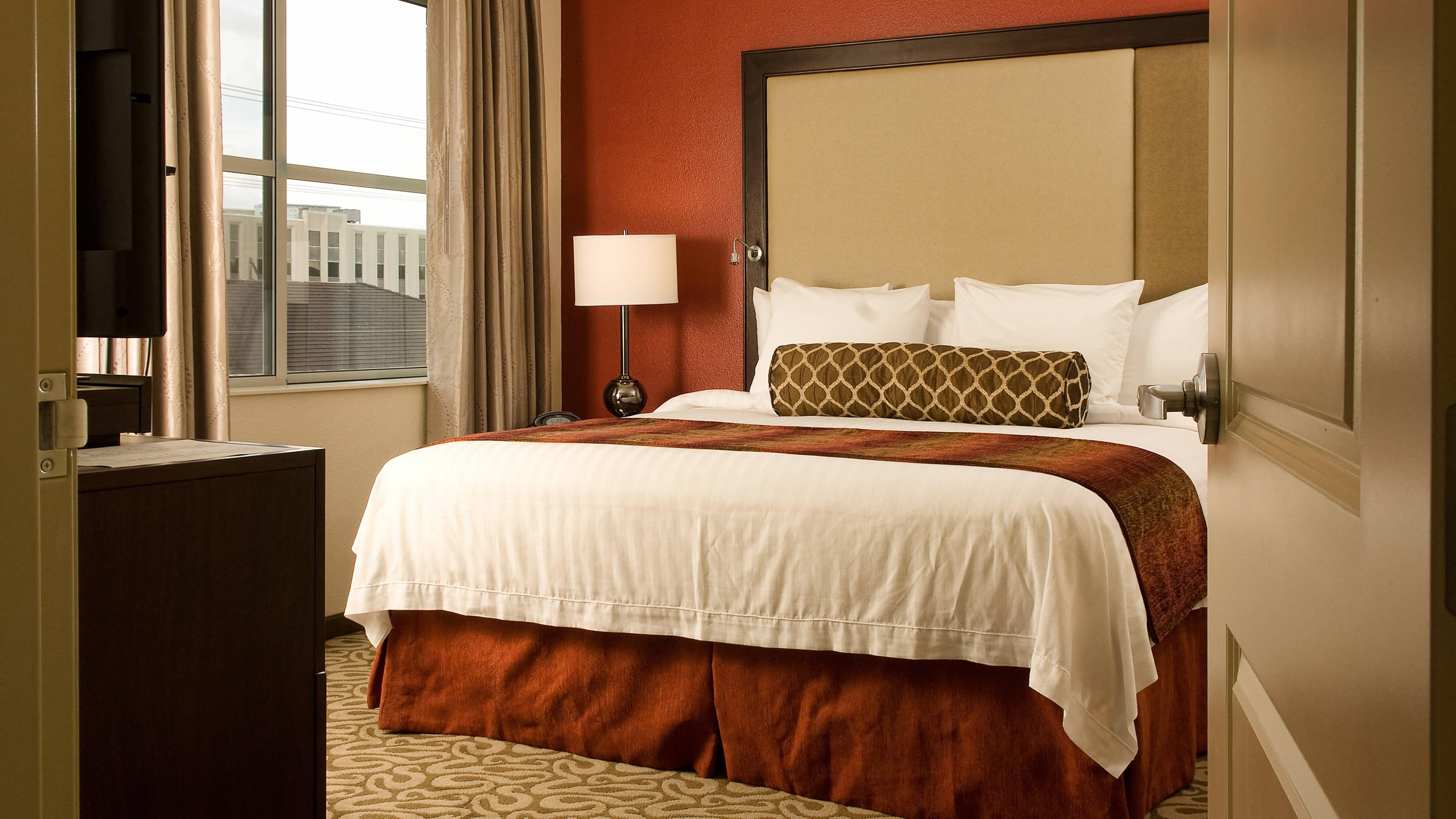 Área de dormir de la suite