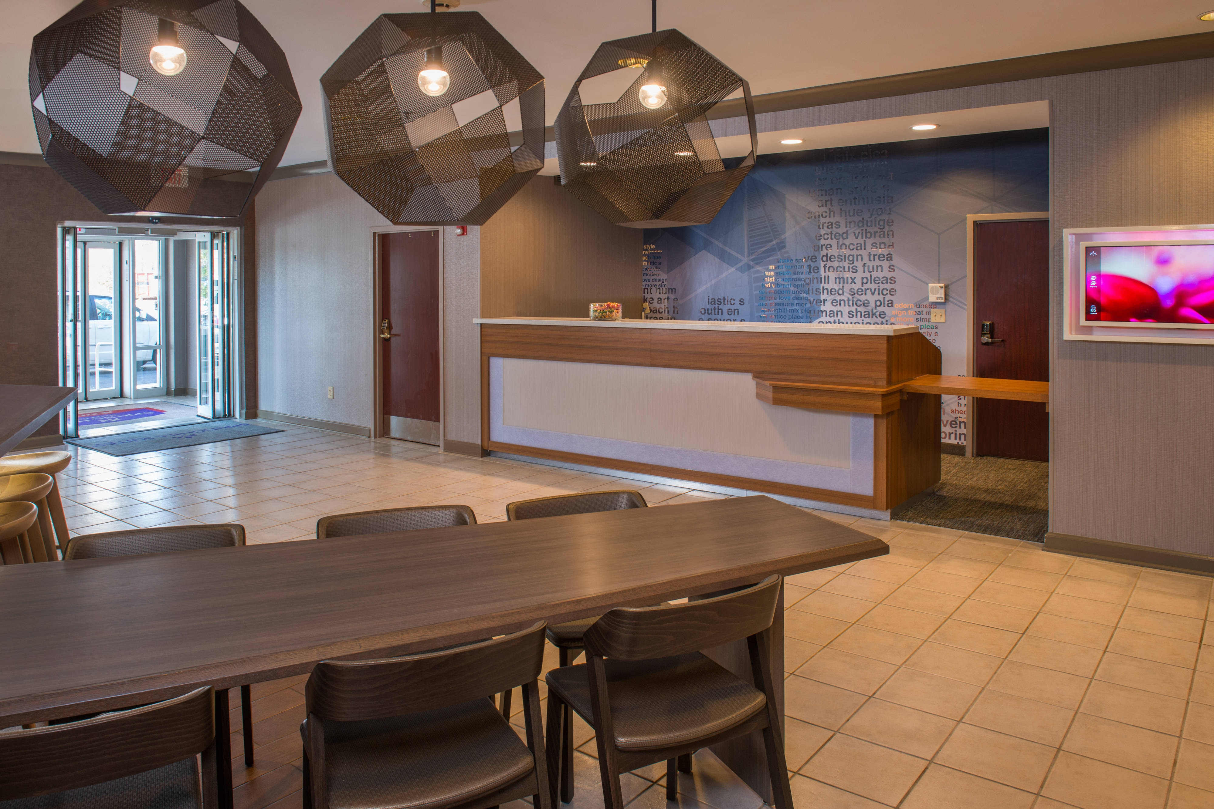 SpringHill Suites Herndon Lobby Table