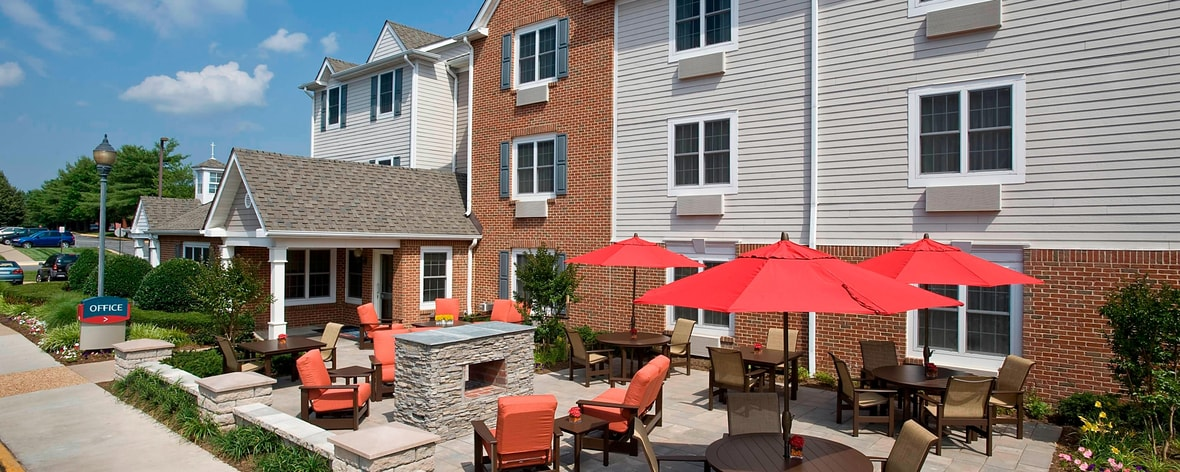 Hotelpatio in Nord-Virginia
