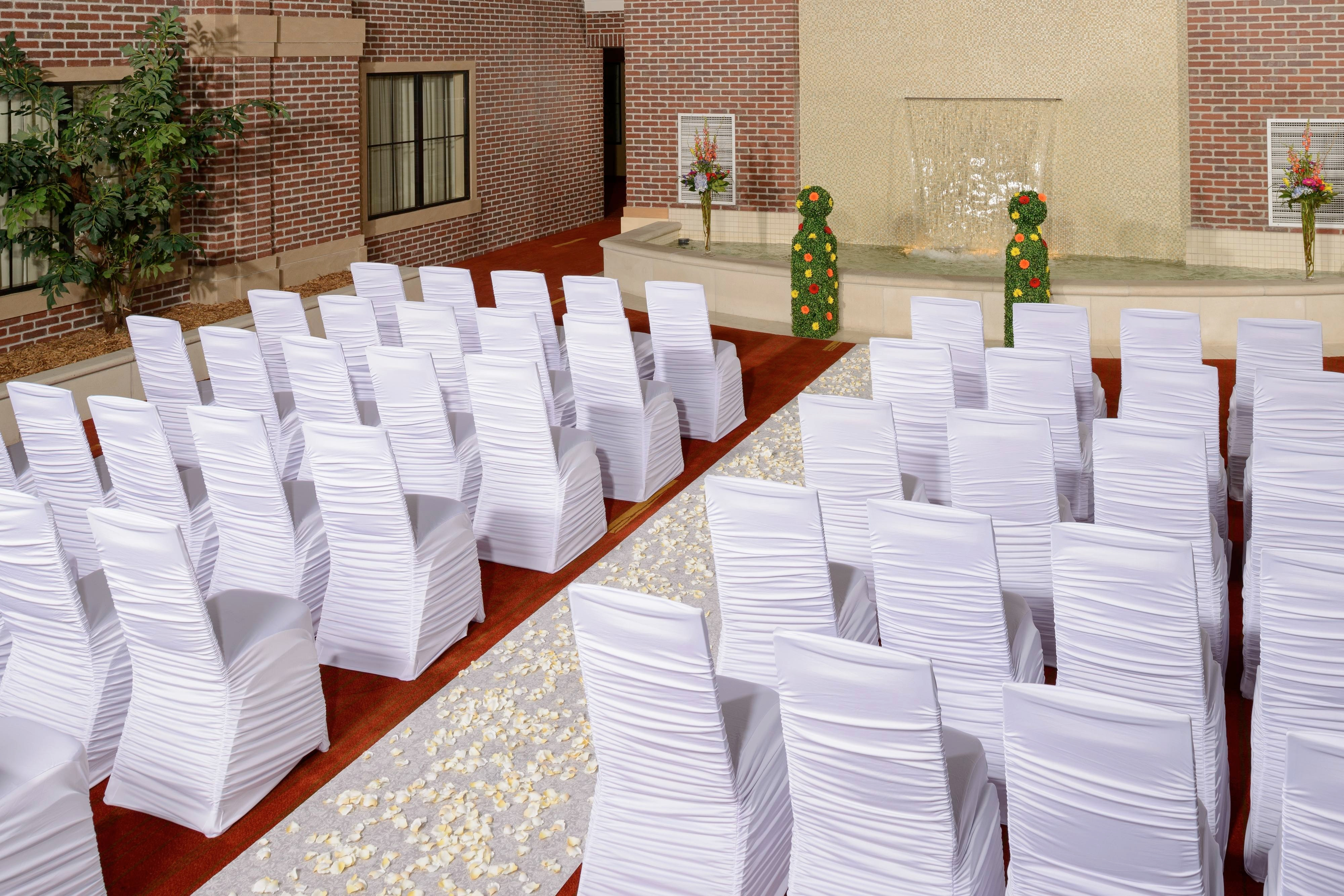 Atrium Wedding Ceremony Setup