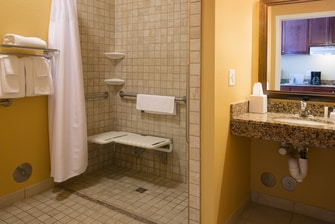 Pocatello Idaho Hotel Accessible Bathroom
