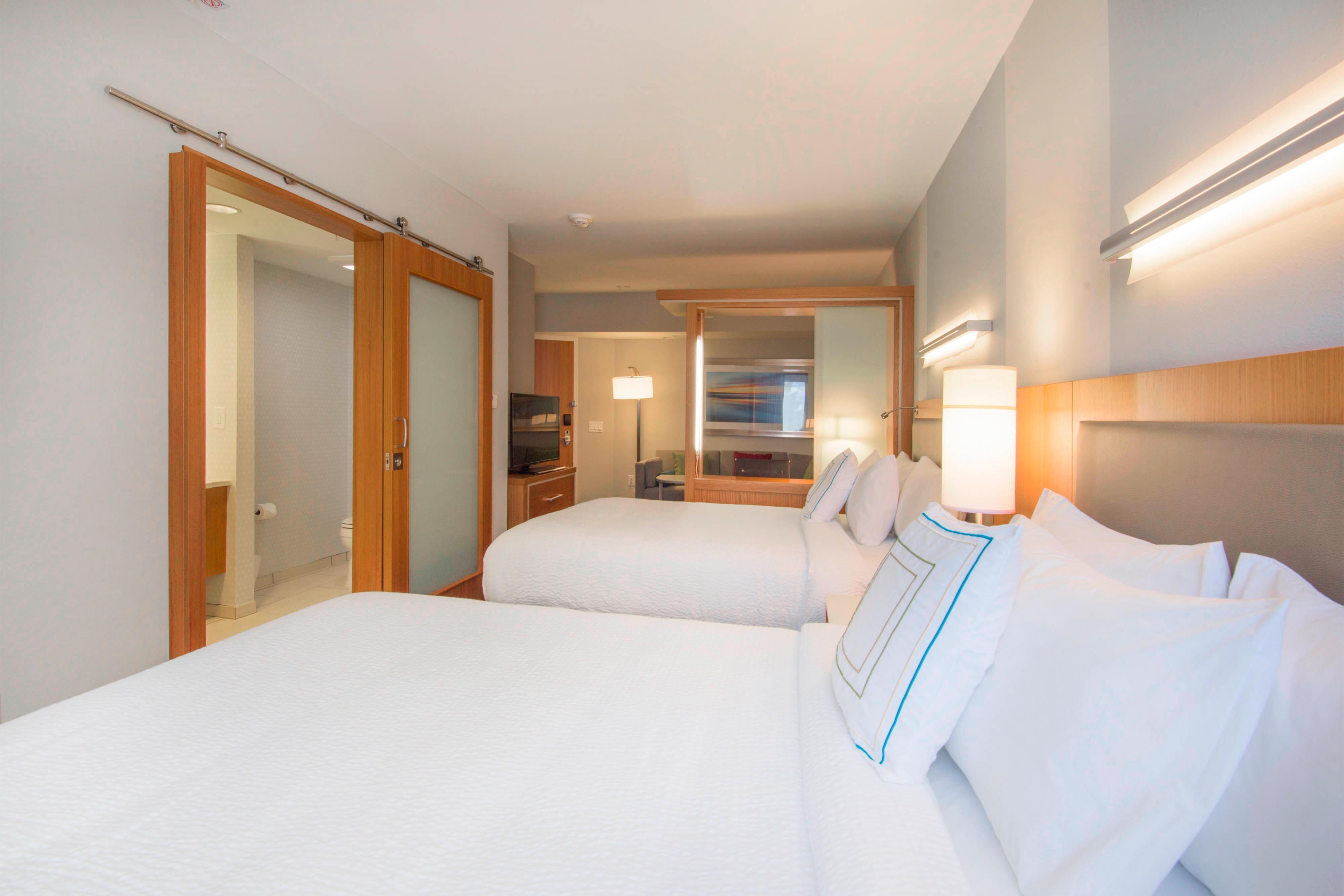 Two Queen Beds in Sleeping Area