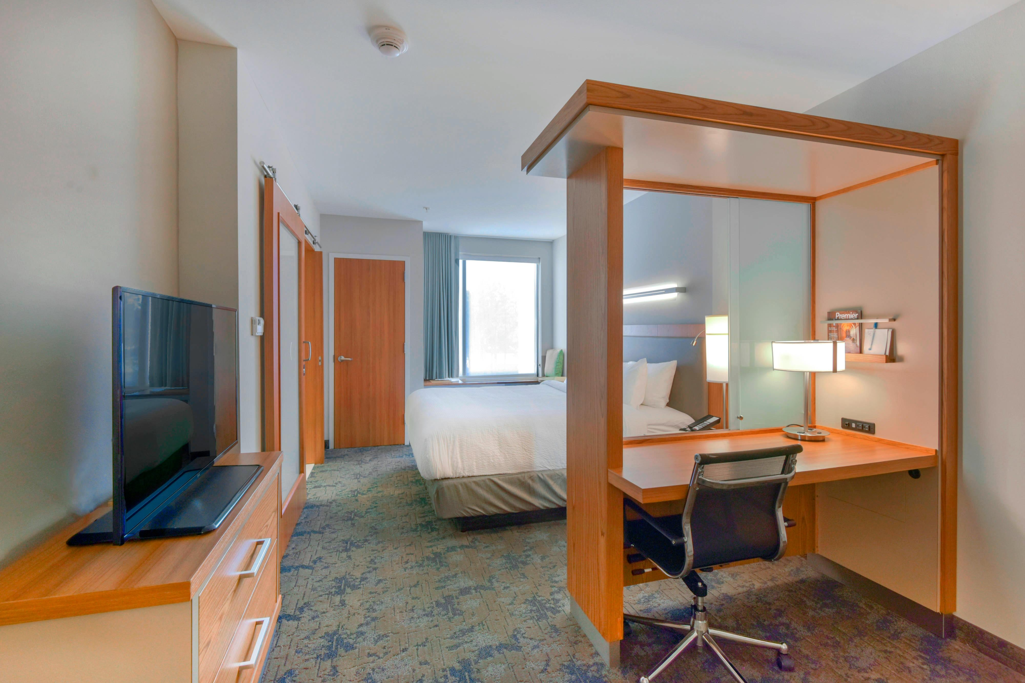 Suite Work Desk and Sleeping Area