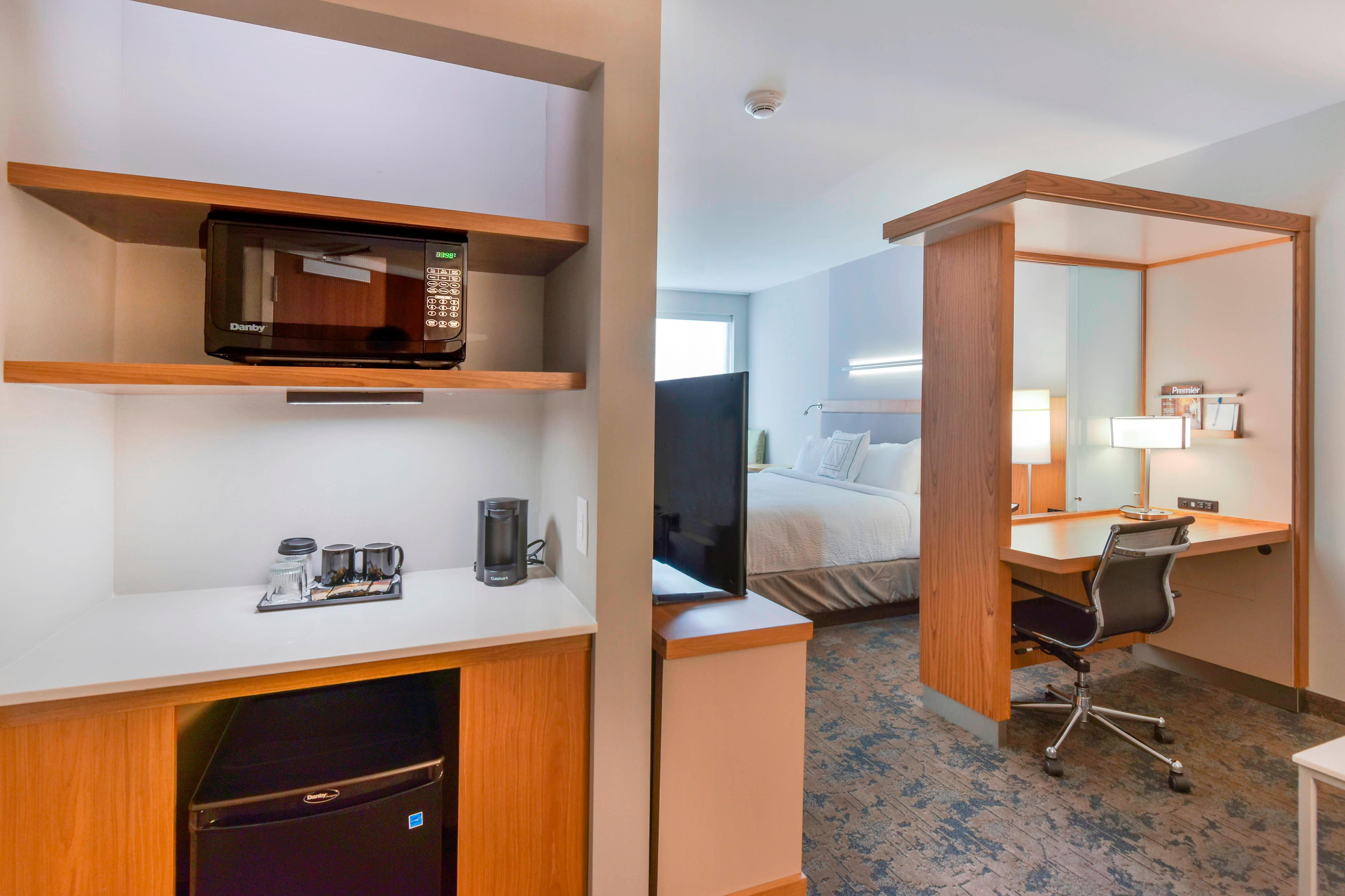 Suite Kitchenette Microwave, Mini-Fridge and Coffee Maker