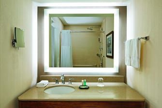 Bathrooms feature Heavenly Shower