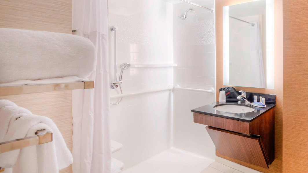 Fairfield Inn & Suites Accessible Roll-in Shower
