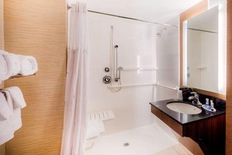 Fairfield Inn & Suites Accessible Suite Bathroom