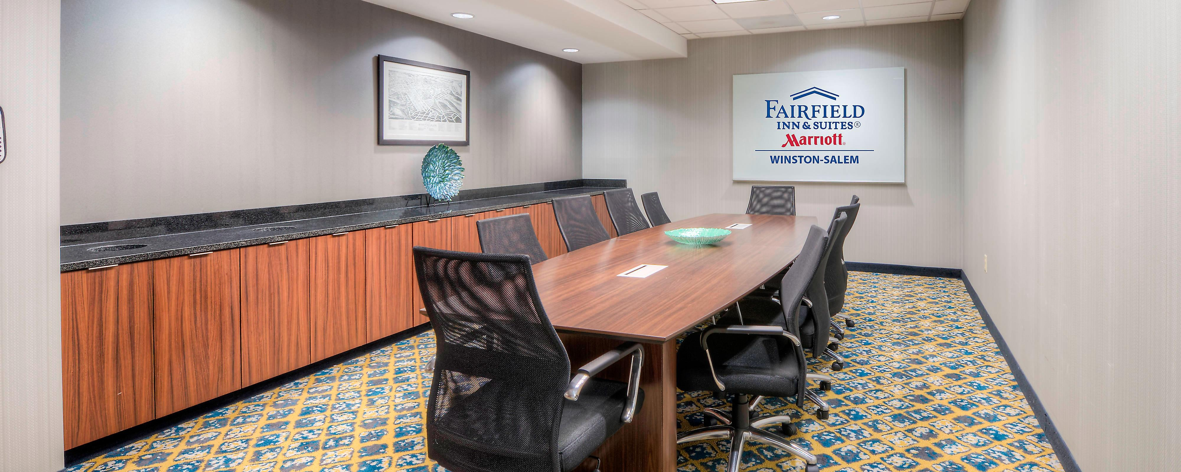 Fairfield Inn & Suites Winston Salem Downtown Boardroom
