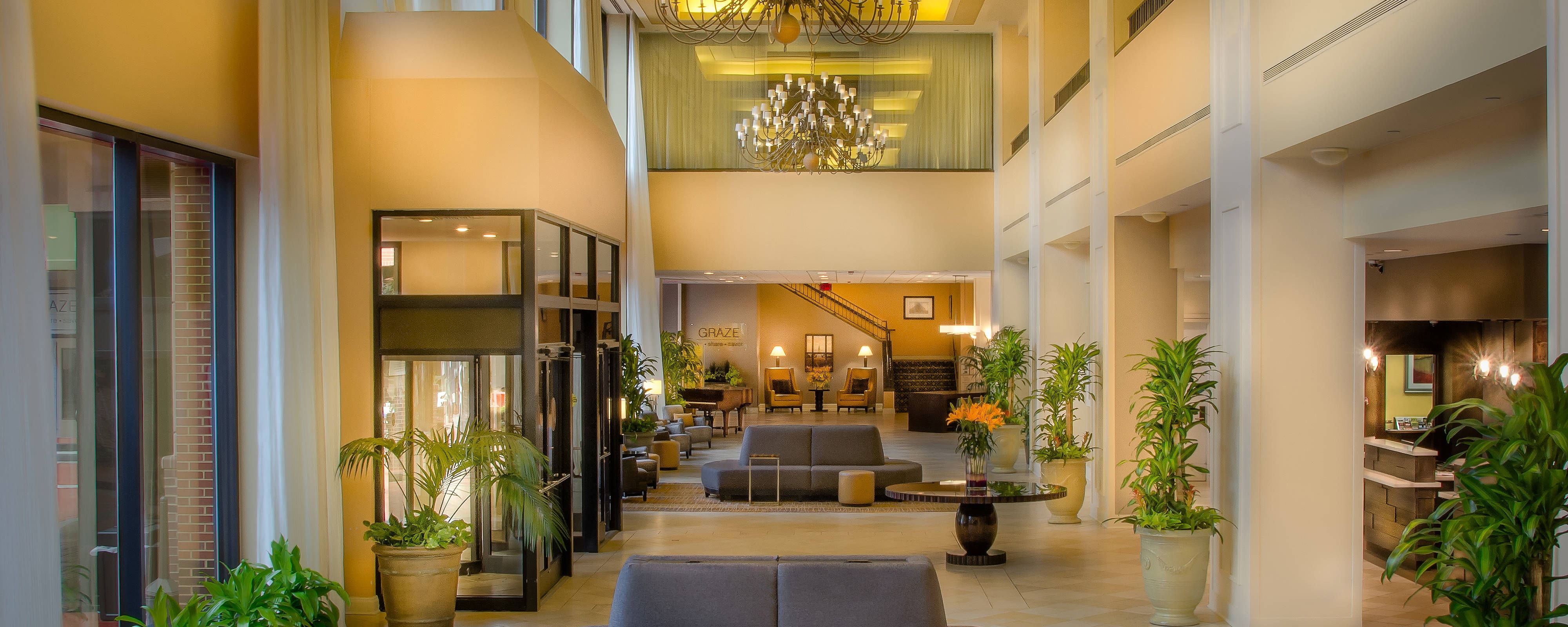Hall du Winston-Salem Marriott