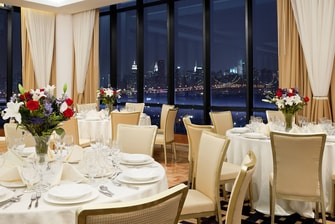Table Setting with night View