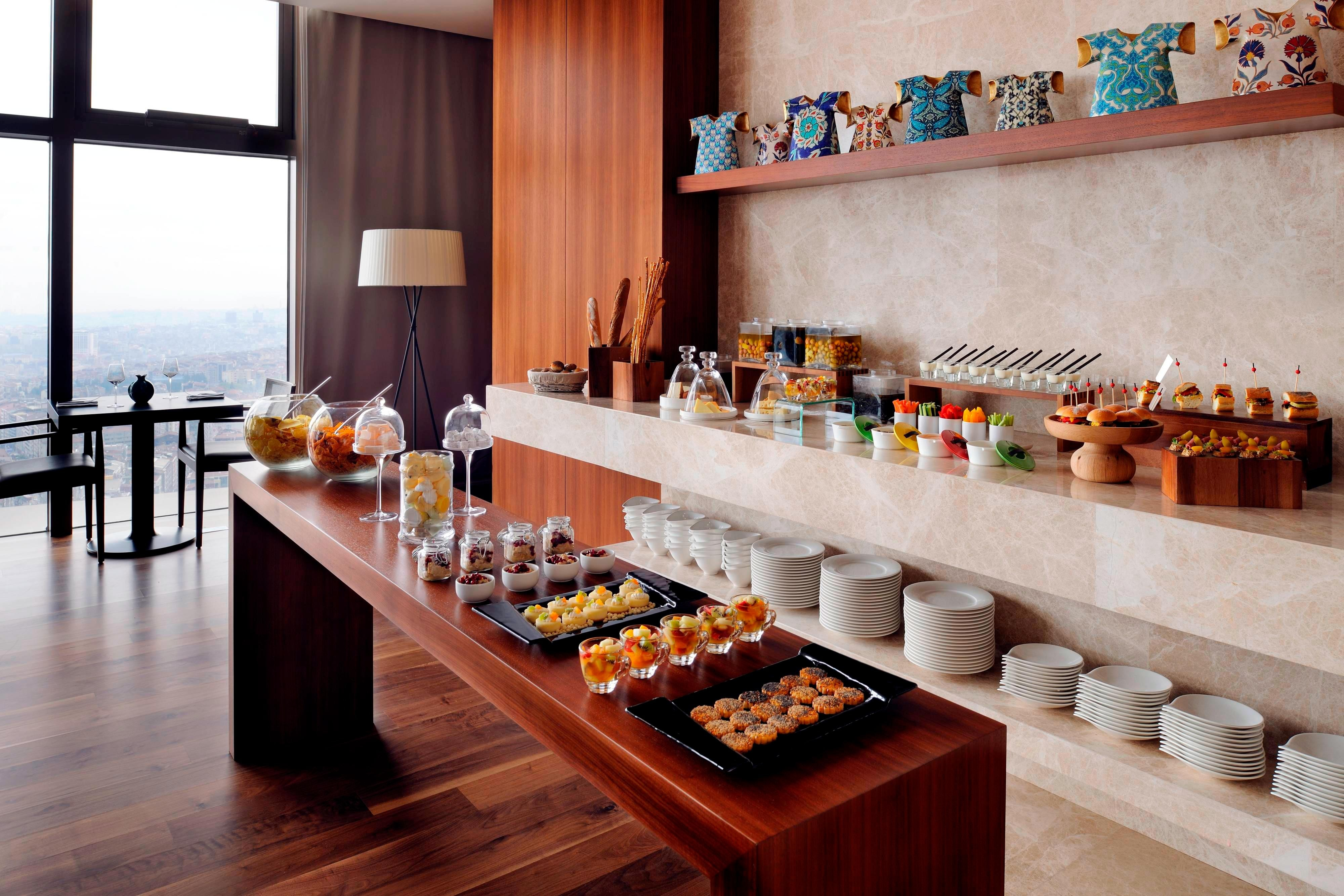 Istanbul hotel executive lounge buffet