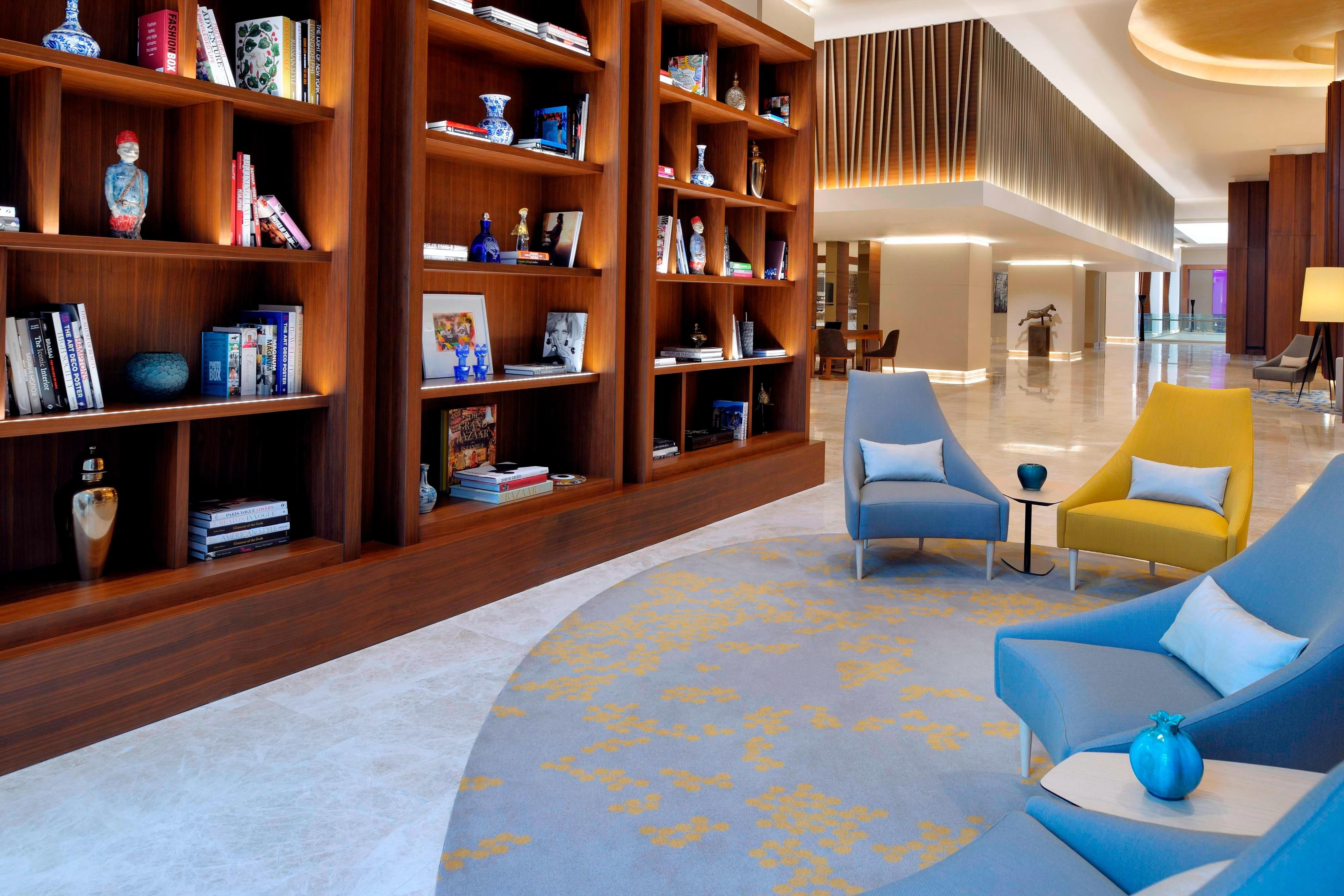 Istanbul hotel lobby library